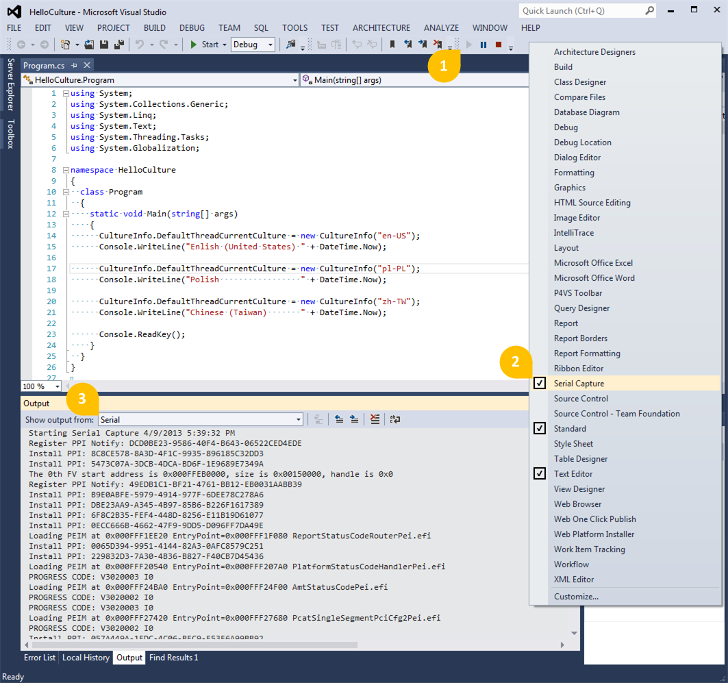 Serial capture for visual studio visual studio marketplace ccuart Gallery